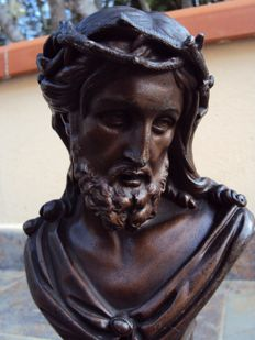 Victor Évrard (1807-1877) - Bust of Christ - bronze metal - France - second half of the 19th century