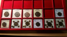 Kingdom of Italy - 5 Cent 1909/1942 (11 coins)