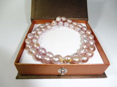 14Kt Gold Freshwater Pearl Necklace 9mm***