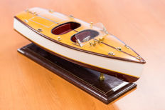 A large model of a wooden Riva - Italy