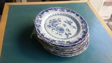 Set of 7 plates. Chinese porcelain from the Indies Company