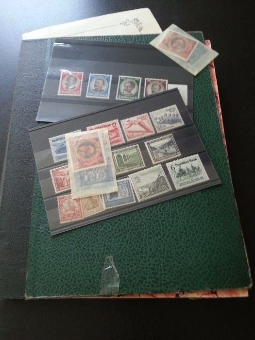German Reich 1870/1940 - and old states, batch with duplicates in stock book.