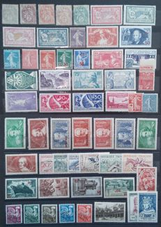 France 1900/54 - Collection of stamps incl. specimen