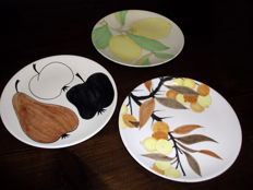Three Very Rare Ceramic Dishes by Ernestine Vietri - very first production of the 50s