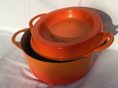 Professional large enamel cast iron cooking pot -DOUFEU - COUSANCES No 24