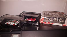 HPI Racing / Kyosho / Redline - Scale 1/43 - Lot with 4 models: 2 x Lancia Stratos & 2 x Lancia Beta Martini Rally Tour of Italy