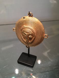 Ancient pendant in solid gold 20k - ASHANTI - Ghana