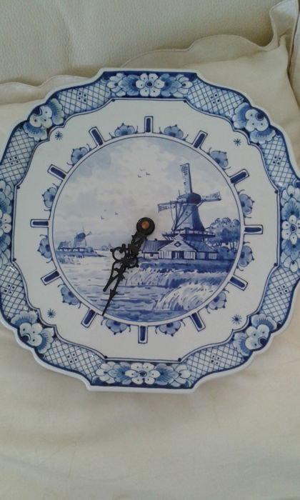 Royal Delft - Wall clock