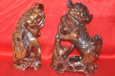 Two large Fu dogs - China - 1st half of 20th century