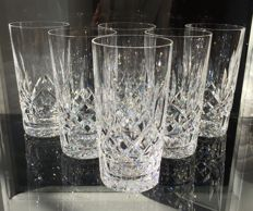 Lot of 6 crystal glasses - exquisite and finely crafted
