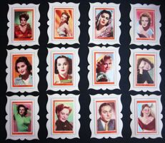 Precious and rare Complete collection of 36 Cards of movie actors - Advertising factory of chocolates Guillen - With Paspartout - C.50.