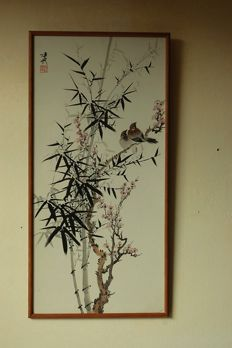 Painting birds in bamboo - China - c. 1950/60