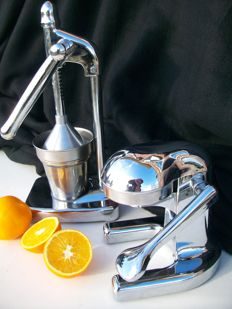 Decorative design juicers - chrome finish.