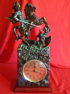 Large clock - 20th century - St. George and the dragon