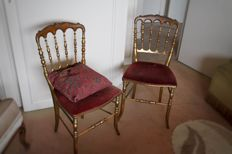 Pair (2 pieces) of Louis XV chairs, France, early 20th century