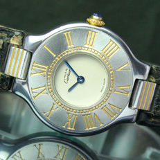 Cartier 21 Must De Quartz Steel Gold Ladies Watch & Strap