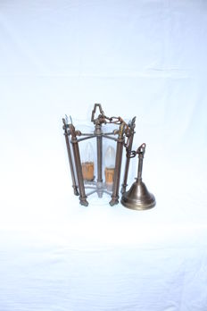 Copper hall lantern , France, second half of the 20th century