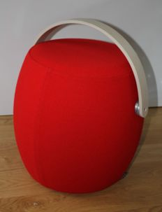 Red Pouffe - Carry On by Offecct