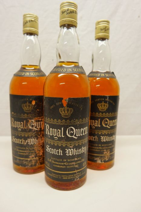 3 bottles - Royal Queen - 100% Scotch Whiskies.