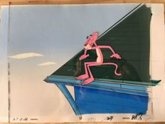 The Pink Panther Show - animation art complete (cel + hand-painted background)