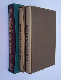 Folio Society; Lot with 3 books about Christmas & Charles Dickens - 1966/2002