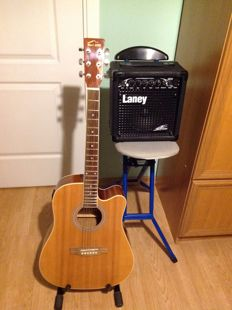 Red Hill CDG 3 EQ N - Western Guitar - Electro Acoustic - Cutaway + Laney LX12 Extreme Combo from England