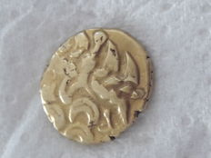 Suessiones - gold stater with anchor, approx. 65-35 BC