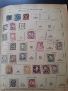 World - collection in very thick, old Schaubek album, well-filled with lots of classic