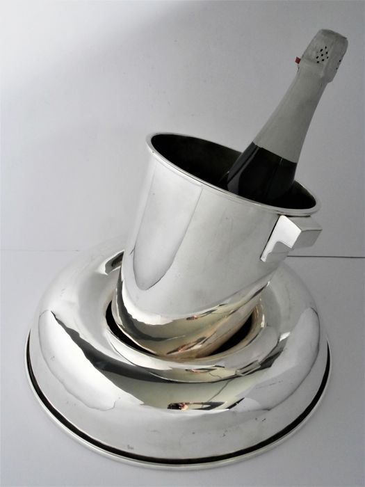 Champagne Cooler With Ring Base In Art Deco Style Gunther