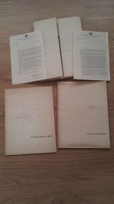 DAF - 2 old Daf books and letters - 40 years of DAF (1968)