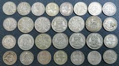 United Kingdom - 3 Pence and 6 Pence 1912/1946 George V and VI (29 pieces) - silver