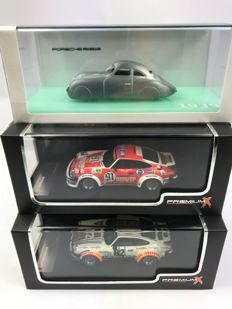 Premium X / TSM - Scale 1/43 - Lot with 3 models: Porsche 934 #82 1979 Le Mans 4th & Porsche 934 #91 1980 Le Mans  & Porsche 64