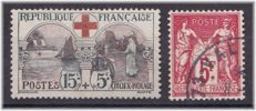 France 1918/25 - Yvert 156 and 216