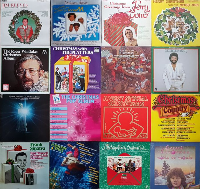 collection of 16 christmas albums by international top artists pop rock soul