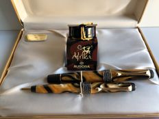 Aurora fountain pen Afrika limited edition + matching pen No. 2393/7500