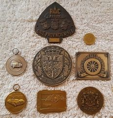 Collectie  rally badge/medaille/mascotte  - RAC noord/Radio-rally etc 1958-63