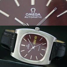 Big Size Omega Geneve Automatic Quick Day Date Steel Mens Watch