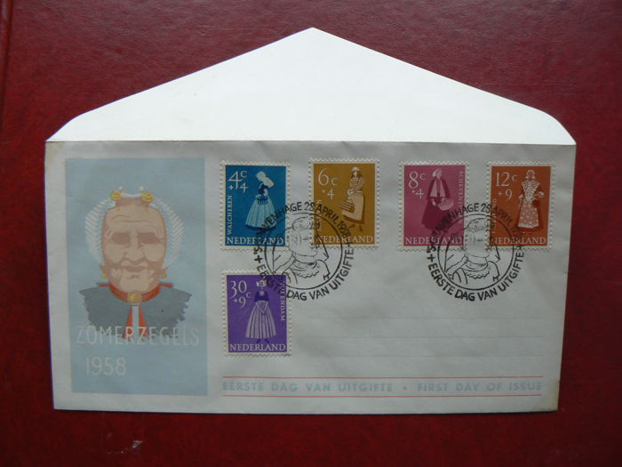 The Netherlands 1957/1963 - Collection FDCs between NVPH E32 and E61
