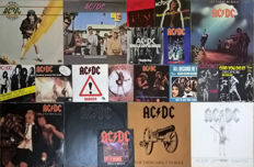 AC/DC Lot of 7 LP Albums + 10 Single 45T + 3 Single 45T from Geordie (Brian Johnson)