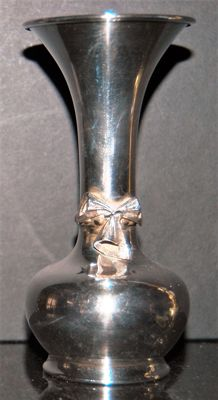 Antique Silver Plated Vase, Merked MP, Continental, early 20th Century