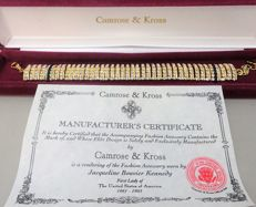 Camrose & Kross - JBK - Jackie Bouvier Kennedy  - Goldplated Bracelet with Swarovski Crystals