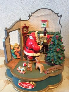 "Original music box ""Christmas"" from, 'Coca-Cola' (it works well) - 20th century"