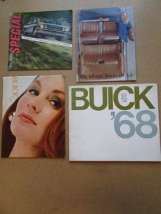 BUICK - Lot of 4 original brochures Special, Skylark, Electra, Wildcat, the Sabre, Riviera, GS, from 1958 to 1961