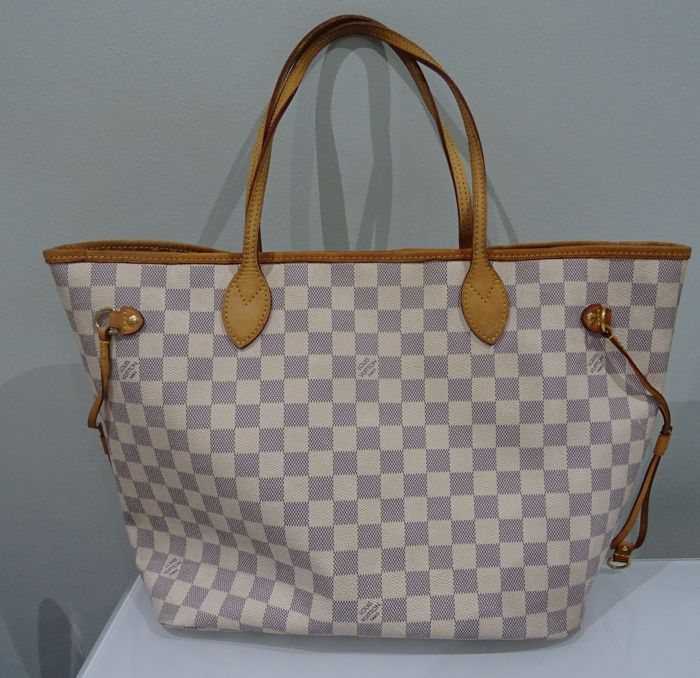 3fb3dddf899f Louis Vuitton - Neverfull Damier Azur Handbag - Catawiki