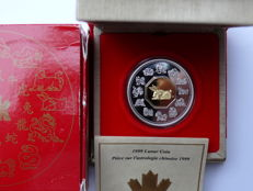 Canada – 15 Dollars 1999 'Year of the Rabbit' gold plated – silver