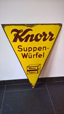 Enamel advertising sign Knorr - 1930s