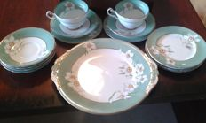 Royal Paragon, Narcissus Part Teaset, By Appointment to her majesty The Queen