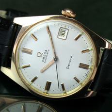 Omega Seamaster Automatic Date Roll Gold Steel Mens Watch