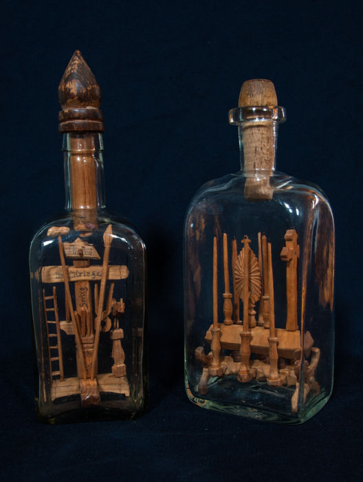 Antique whimsy bottles - Hungary/Serbia - around 1800 and 1914