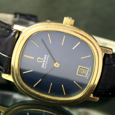 Omega Automatic Quick Date Steel Gold Blue Dial Unisex Watch